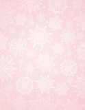 Pink christmas background with snowflakes and stars, vector Royalty Free Stock Photos