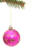 pink christmas ball Royalty Free Stock Photos