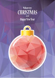 Pink christmas ball Stock Image