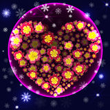 Pink Christmas ball illustration. Vector Royalty Free Stock Photography