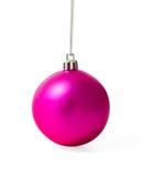 Pink Christmas ball Stock Images