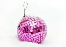 Pink christmas ball Stock Photos