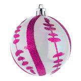 Pink christmas ball Royalty Free Stock Images
