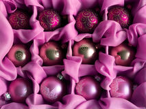 Pink Christmas balls Stock Photography