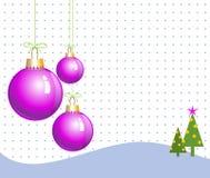 Pink christmas balls Stock Image