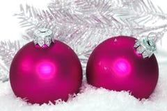 Pink Christmas balls Royalty Free Stock Photo