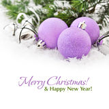 Pink christmas balls royalty free stock images