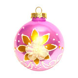 Pink Christmas bauble. Royalty Free Stock Image
