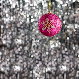 Pink christmas bauble ornament Stock Photos