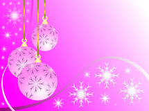 Pink Christmas Baubles Royalty Free Stock Photography