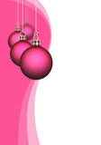 Pink Christmas baubles Royalty Free Stock Image