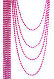 Pink Christmas bead garland Stock Photo