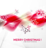 Pink Christmas blurred waves and snowflakes Royalty Free Stock Photo