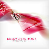 Pink Christmas blurred waves and snowflakes Royalty Free Stock Photos