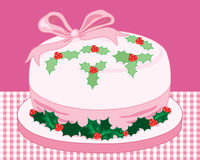 Pink christmas cake Royalty Free Stock Images