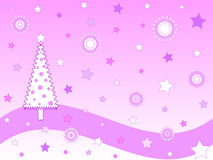 Pink christmas card Stock Photo