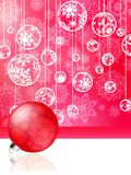 Pink christmas card with baubles . EPS 8 Royalty Free Stock Photos