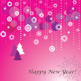Pink Christmas card Stock Photography