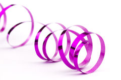 Pink christmas foil ribbon Royalty Free Stock Photos