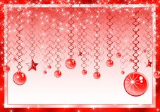 Pink Christmas Frame with ribbons Royalty Free Stock Photo