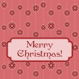 Pink Christmas funky banner Royalty Free Stock Photos