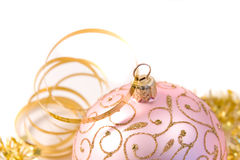 Pink christmas glass ball Royalty Free Stock Photography