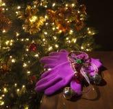 Pink Christmas gloives Royalty Free Stock Photos