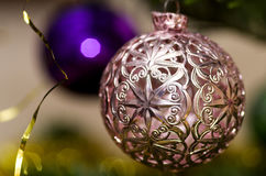 Pink Christmas ornament Royalty Free Stock Photography