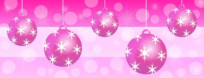 Pink christmas panoramic background banner Royalty Free Stock Photos