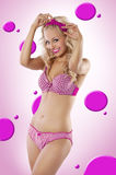 Pink christmas pin up Royalty Free Stock Photos