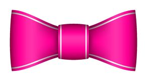 Pink christmas ribbon bow. With light shadow Royalty Free Stock Image
