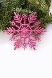 Pink christmas star fir tree Royalty Free Stock Image