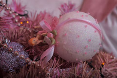 Pink Christmas tree Royalty Free Stock Images