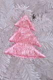 Pink christmas tree on christmas tree Stock Image