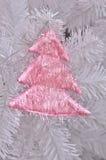 Pink christmas tree on christmas tree Stock Image