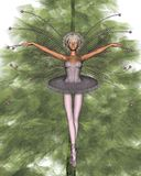 Pink Christmas Tree Fairy - 1. Digital render of a pretty pink ballerina fairy off the top of the Christmas tree Stock Photo