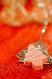 Pink christmas tree homemade sweets Stock Image