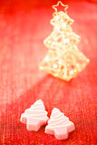 Pink christmas tree homemade sweets Royalty Free Stock Image