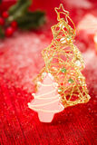 Pink christmas tree homemade sweets Stock Photography