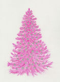 Pink Christmas tree Stock Images