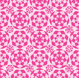 Pink circle cut seamless pattern Royalty Free Stock Photography