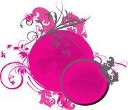 Pink circle decoration Royalty Free Stock Images