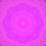 Pink Circle Lace Ornament Stock Image