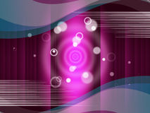 Pink Circles Background Means Round And Ripples Royalty Free Stock Image