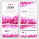 Pink circles identity-1 Royalty Free Stock Photo