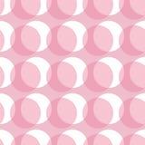 Pink circles seamless pattern Stock Photography