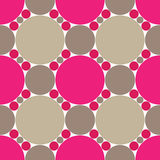 Pink circles seamless pattern Stock Photos