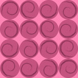 Pink circles with spirals, wrapping paper Royalty Free Stock Image