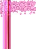 Pink Circles and Stars Royalty Free Stock Photo