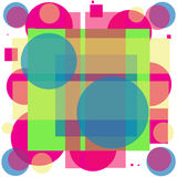 PINK CIRCLES AND STRIPES. Layers of colored circles and stripes, translucent, of diferent sizes, put one on top of the other, thus forming other colors or tones Royalty Free Stock Photo
